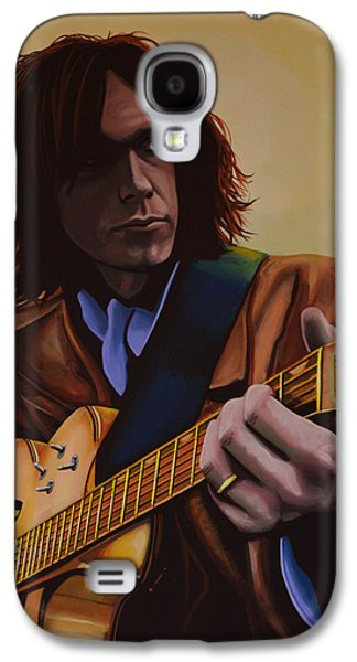 Neil Young Painting Galaxy S4 Case by Paul Meijering