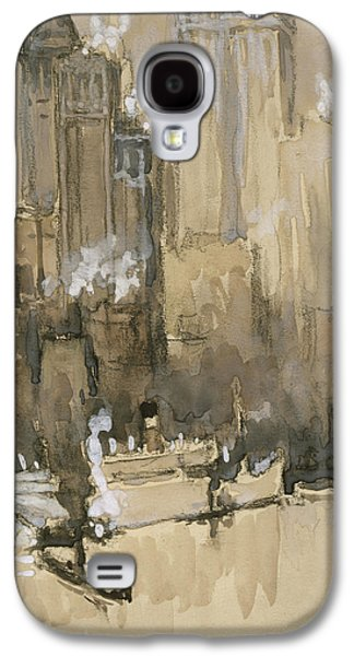 Street Drawings Galaxy S4 Cases -  New York from our Brooklyn flat circa 1921 Galaxy S4 Case by Aged Pixel