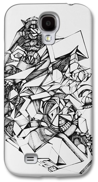 Abstract Digital Drawings Galaxy S4 Cases -  Perception Of Things Galaxy S4 Case by The Door Project