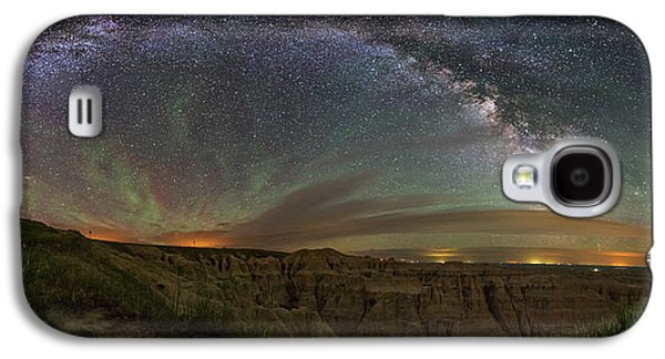 Astrophotography Galaxy S4 Cases -  Pinnacles Overlook at Night Galaxy S4 Case by Aaron J Groen