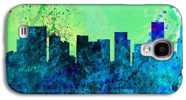 Architectural Paintings Galaxy S4 Cases -  Portland City Skyline Galaxy S4 Case by Naxart Studio