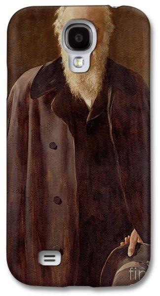 Portrait Of Charles Darwin Galaxy S4 Case by John Collier