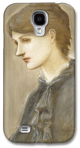 Sadness Paintings Galaxy S4 Cases -  Portrait of Mrs William J Stillman nee Marie Spartali Galaxy S4 Case by Sir Edward Coley Burne Jones