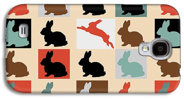 Animation Galaxy S4 Cases -  Rabbits Galaxy S4 Case by Mark Ashkenazi