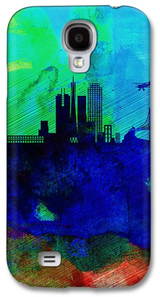 Downtown San Francisco Galaxy S4 Cases -  San Francisco Watercolor Skyline 2 Galaxy S4 Case by Naxart Studio