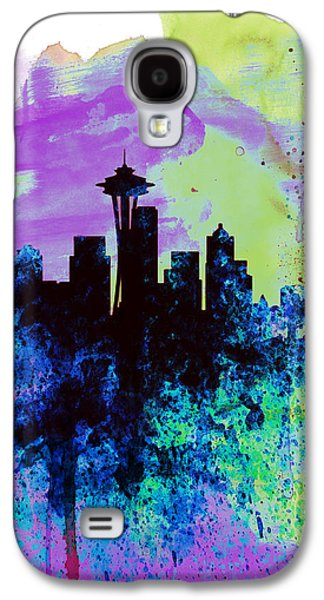 Seattle Watercolor Skyline 1 Galaxy S4 Case by Naxart Studio