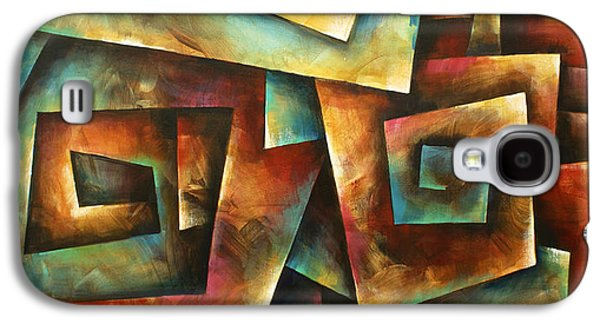 Staircase Paintings Galaxy S4 Cases -  Shuffle Galaxy S4 Case by Michael Lang