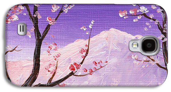 Cherry Blossoms Drawings Galaxy S4 Cases -  Spring Will Come Galaxy S4 Case by Anastasiya Malakhova