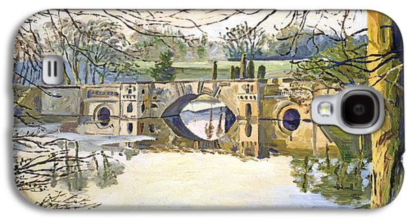 Gardenscapes Galaxy S4 Cases -  Stone Bridge Galaxy S4 Case by David Lloyd Glover