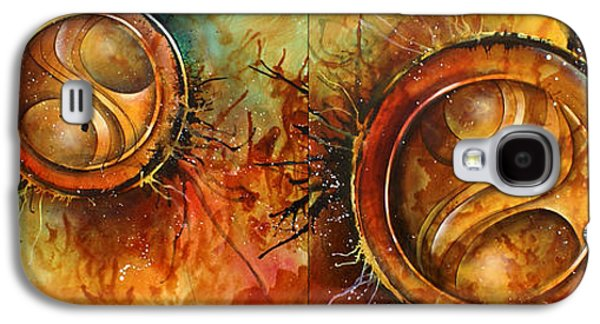 Abstract Movement Galaxy S4 Cases -  Sun Gods  Galaxy S4 Case by Michael Lang