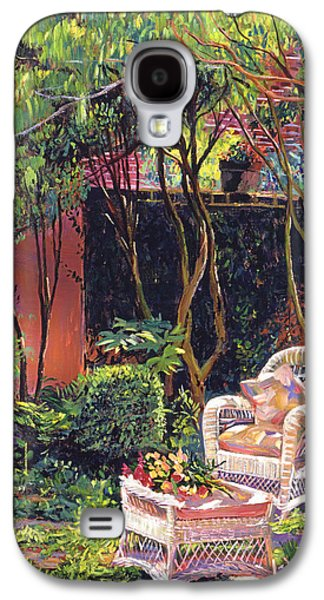 Terra Paintings Galaxy S4 Cases -  Sunny Summer Patio Galaxy S4 Case by David Lloyd Glover