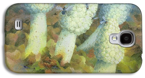 The Green Man With Fly Agaric Galaxy S4 Case by Glyn Morgan