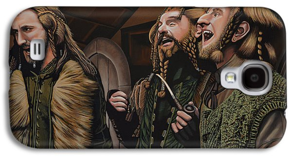 The Kings Paintings Galaxy S4 Cases -  The Hobbit and the Dwarves Galaxy S4 Case by Paul  Meijering