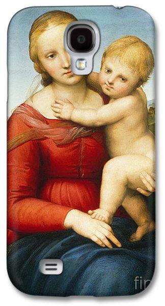 Child Jesus Galaxy S4 Cases -  The Small Cowper Madonna Galaxy S4 Case by Raphael Raffaello Sanzio of Urbino