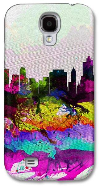 Tulsa Watercolor Skyline Galaxy S4 Case by Naxart Studio