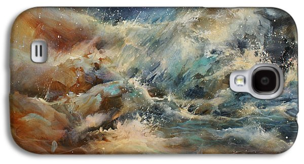Storms Paintings Galaxy S4 Cases -  Turmoil  Galaxy S4 Case by Michael Lang
