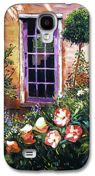 Gardenscapes Galaxy S4 Cases -  Tuscan Villa Garden Galaxy S4 Case by David Lloyd Glover