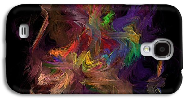 Gold Lime Green Galaxy S4 Cases -  Veils of Many Colors Galaxy S4 Case by Madeline  Allen - SmudgeArt