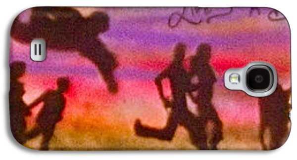 Bryant Paintings Galaxy S4 Cases -  Venice Beach to Santa Monica Galaxy S4 Case by Tony B Conscious