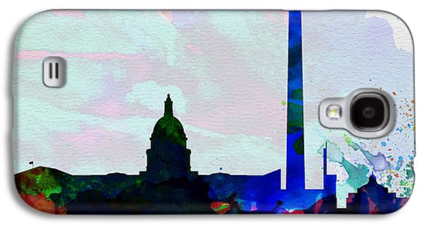 Architectural Paintings Galaxy S4 Cases -  Washington DC City Skyline 2 Galaxy S4 Case by Naxart Studio