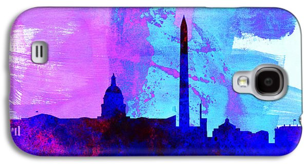 Architectural Paintings Galaxy S4 Cases -  Washington DC City Skyline Galaxy S4 Case by Naxart Studio