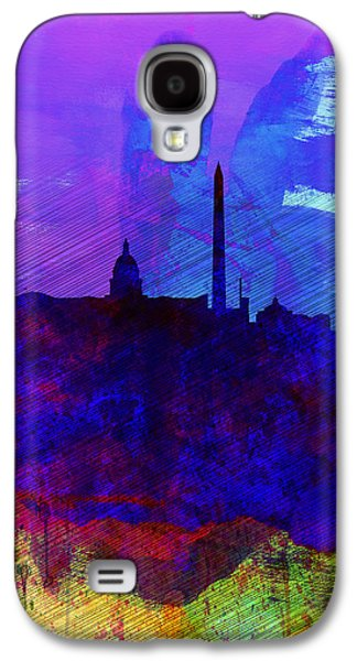 Architectural Digital Art Galaxy S4 Cases -  Washington DC Watercolor Skyline 2 Galaxy S4 Case by Naxart Studio