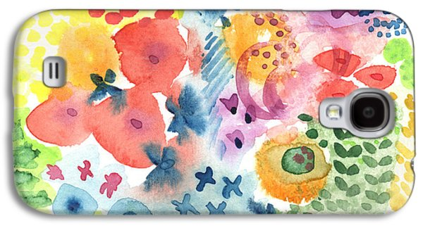 Recently Sold -  - Abstract Nature Galaxy S4 Cases -  Watercolor Garden Galaxy S4 Case by Linda Woods