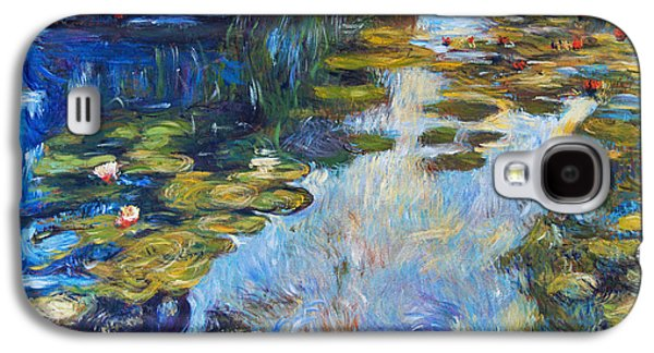 Gardenscapes Galaxy S4 Cases -  Waterlily Reflections Galaxy S4 Case by David Lloyd Glover