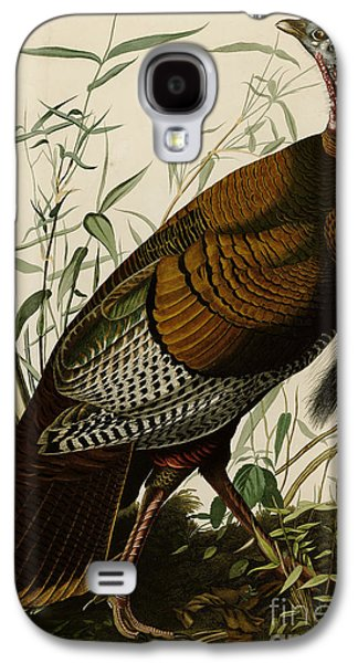 Young Turkey Galaxy S4 Cases -  Wild Turkey Galaxy S4 Case by John James Audubon