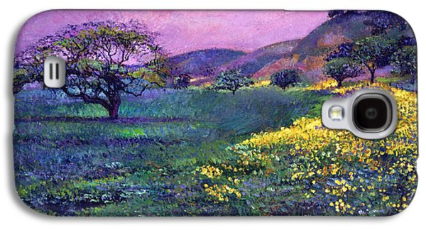 Pastoral Paintings Galaxy S4 Cases -  Wildflower Fields Galaxy S4 Case by David Lloyd Glover