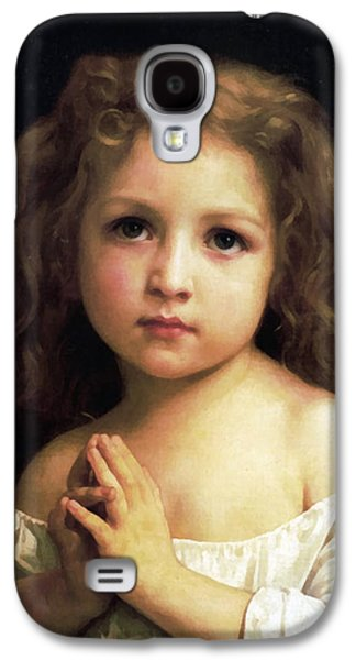 The Followers Galaxy S4 Cases -  Young Girl Child Praying Galaxy S4 Case by William Bouguereau