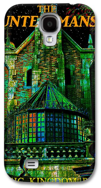 Haunted Digital Art Galaxy S4 Cases - Haunted Masion poster work A Galaxy S4 Case by David Lee Thompson