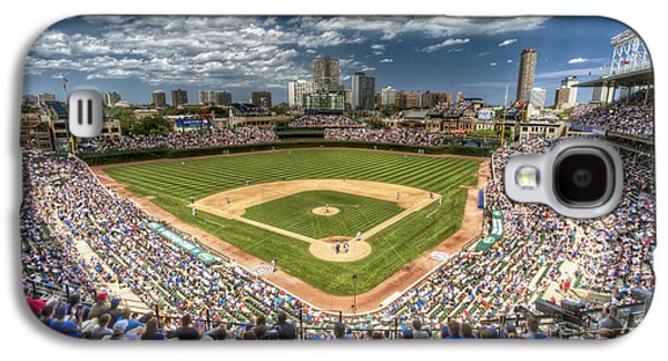 Wrigley Field Galaxy S4 Cases - 0234 Wrigley Field Galaxy S4 Case by Steve Sturgill