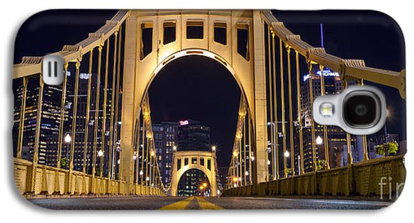 0304 Roberto Clemente Bridge Pittsburgh Galaxy S4 Case by Steve Sturgill