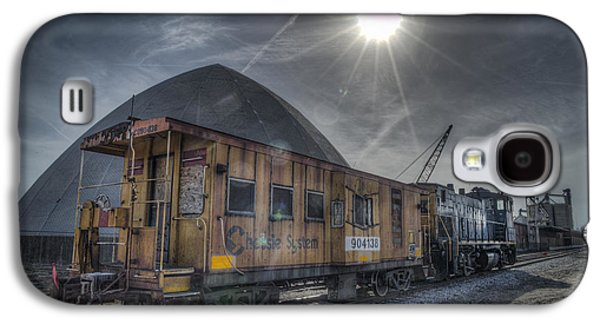 Evansville Galaxy S4 Cases - 03.21.14 CSX Switcher - CO Caboose Galaxy S4 Case by Jim Pearson