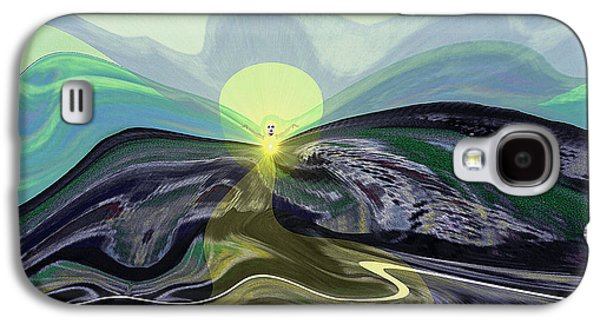 Surreal Landscape Galaxy S4 Cases - 033 -  Mountain morning with Angel   Galaxy S4 Case by Irmgard Schoendorf Welch