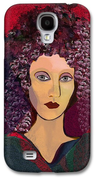 Hairstyle Digital Galaxy S4 Cases - 045 -  Woman with green dress.... Galaxy S4 Case by Irmgard Schoendorf Welch