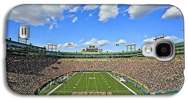 Football Photographs Galaxy S4 Cases - 0538 Lambeau Field  Galaxy S4 Case by Steve Sturgill