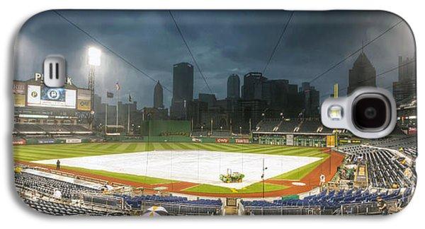 Pennsylvania Baseball Parks Galaxy S4 Cases - 0646 Rain Delay - PNC Park Pittsburgh Galaxy S4 Case by Steve Sturgill