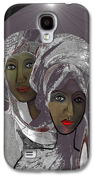 065 - White Veiled Ladies   Galaxy S4 Case by Irmgard Schoendorf Welch