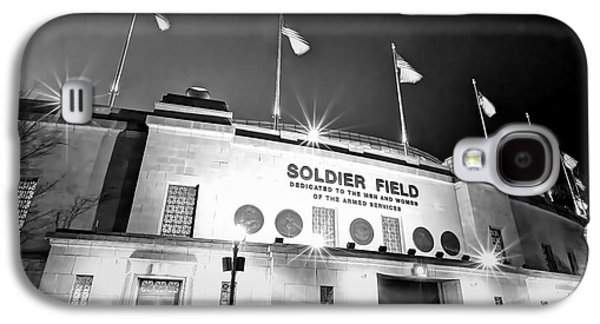 0879 Soldier Field Black And White Galaxy S4 Case by Steve Sturgill
