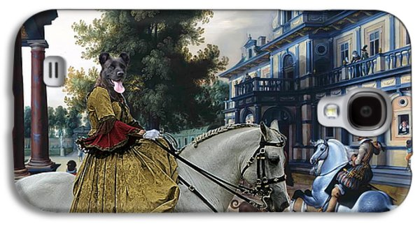 Cattle Dog Paintings Galaxy S4 Cases -  Cao Fila de Sao Miguel - Azores Cattle Dog Art Canvas Print Galaxy S4 Case by Sandra Sij
