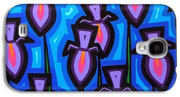 Icons Prints Paintings Galaxy S4 Cases - 10 Irises Galaxy S4 Case by John  Nolan