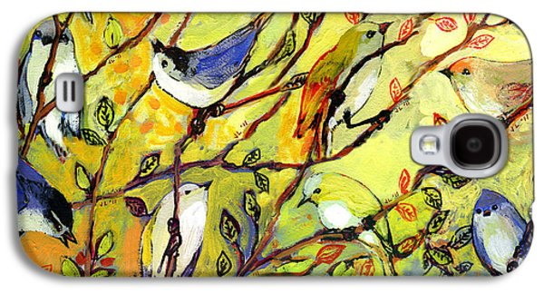 Series Galaxy S4 Cases - 16 Birds Galaxy S4 Case by Jennifer Lommers