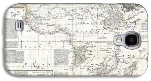Old Jewish Area Galaxy S4 Cases - 1794 Boulton and Anville Wall Map of Africa Galaxy S4 Case by Paul Fearn