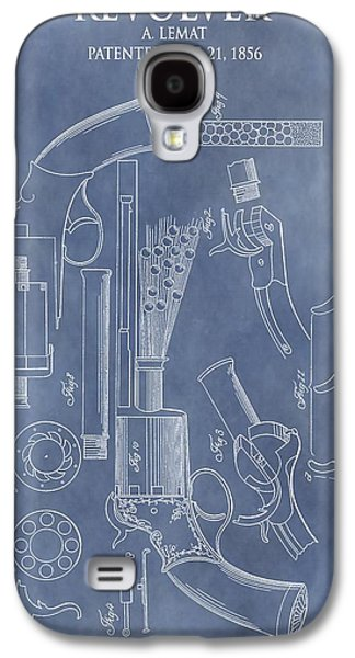 Owner Drawings Galaxy S4 Cases - 1856 Revolver Patent Galaxy S4 Case by Dan Sproul