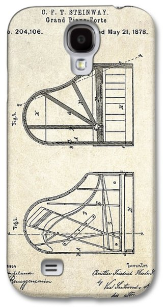 1878 Steinway Grand Piano Forte Patent Art S. 1 Galaxy S4 Case by Gary Bodnar