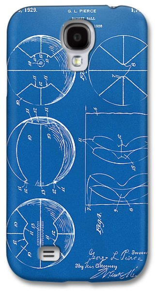 Basket Ball Game Galaxy S4 Cases - 1929 Basketball Patent Artwork - Blueprint Galaxy S4 Case by Nikki Marie Smith