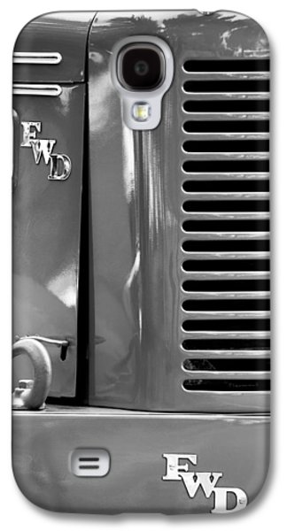 Truck Photographs Galaxy S4 Cases - 1950 Four Wheel Drive Pumper Fire Truck Emblems Galaxy S4 Case by Jill Reger