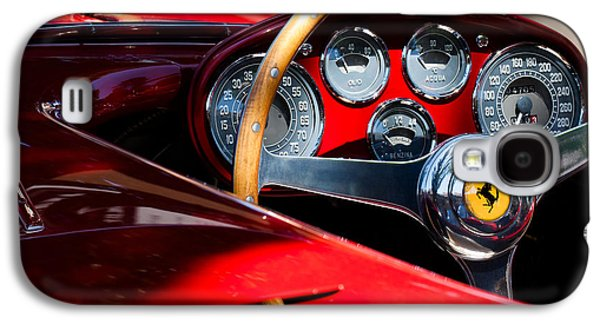 Transportation Photographs Galaxy S4 Cases - 1954 Ferrari 500 Mondial Spyder Steering Wheel Emblem Galaxy S4 Case by Jill Reger